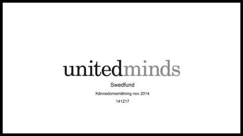 Swedfund Kännedomsmätning