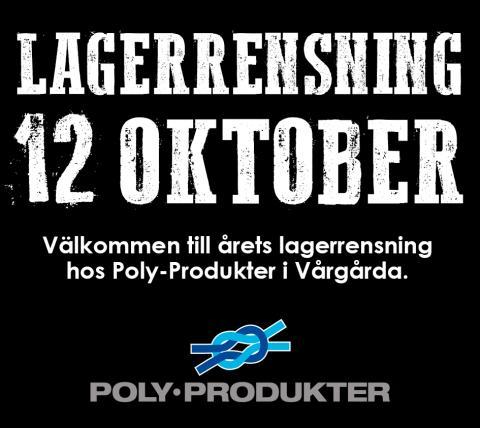 Lagerrensning i Vårgårda 12 oktober