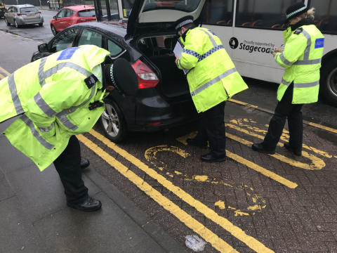 Multi-agency taxi operation on Upper Parliament Street