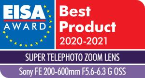 EISA Award Sony FE 200 600mm F5.6-6