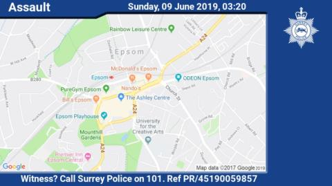 Appeal for witnesses following serious assault on High Street, Epsom