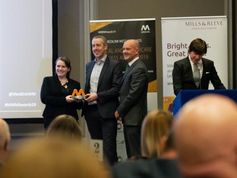 Dignio vant startup-pris i England