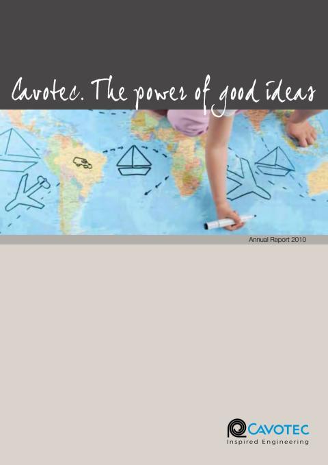 Cavotec Annual Report 2010