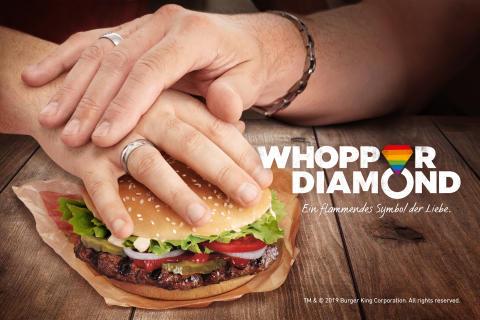 BURGER KING® feiert Liebe und Diversity mit dem Whopper Diamond