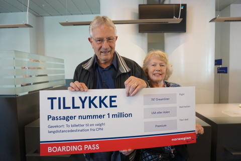 Langdistancepassager nummer én million i CPH