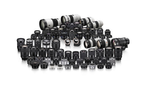 E mount lens A mount lens