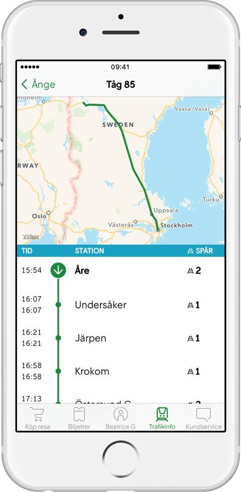 SJ App Trafikinfo
