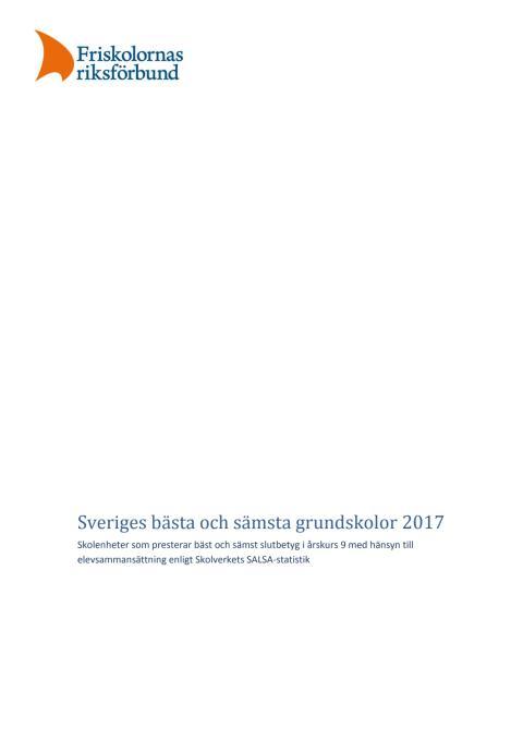 Sveriges bästa och sämsta grundskolor 2017