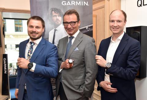 Simon Schön (Garmin), Korbinian Fridrich (Juwelier Fridrich),  Stephan Lindner (Juwelier Fridrich) v.r.