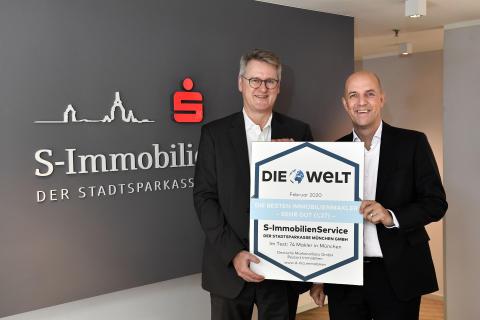 S-ImmobilienService der Stadtsparkasse München GmbH bleibt die Nummer Eins!