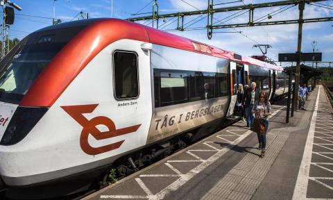 Tåg i Bergslagen anpassar trafiken till lägre resande från 2:a april