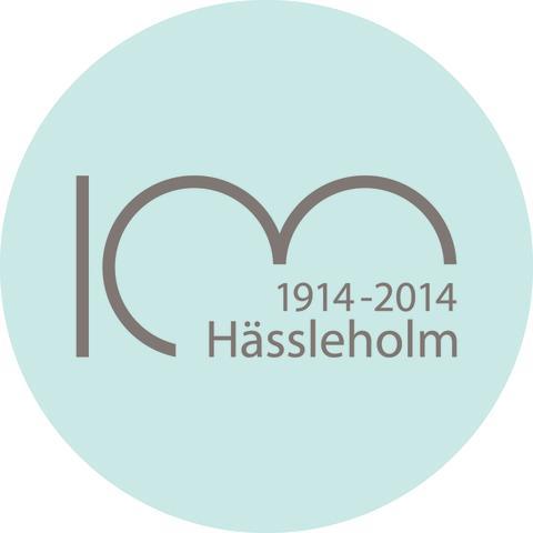 Logotyp - Hässlehoms stad firar 100 år