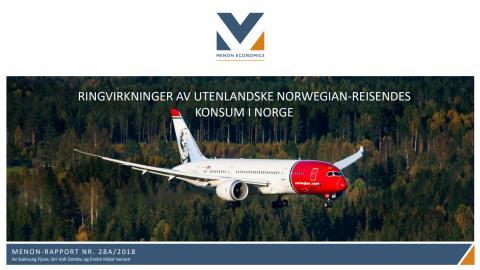 Ringvirkninger av utenlandske Norwegian-reisendes konsum i Norge (2017)