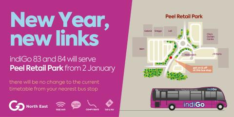 New year, new links as Go North East is set to serve Peel Retail Park in Washington from 2 January