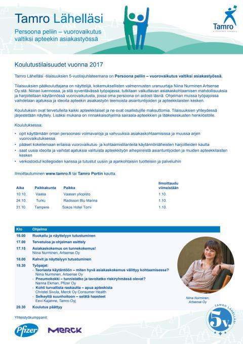 Avoapteekkien ohjelma, syksy 2017