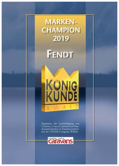 """König Kunde Award 2018: Fendt-Caravan gewinnt in der Kategorie """"Marke der Zukunft"""""""