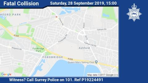Appeal following single vehicle fatal collision in Ashford.