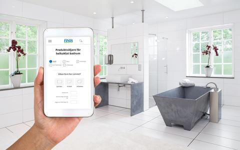 Produktväljare och mängdberäknare för badrum