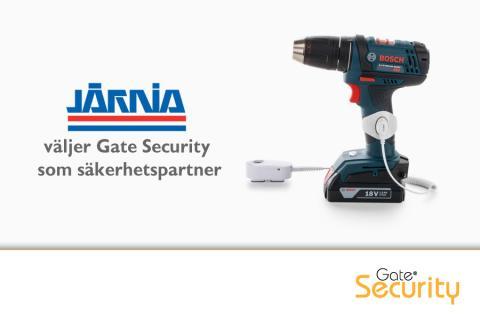 Järnia väljer Gate Security som säkerhetspartner