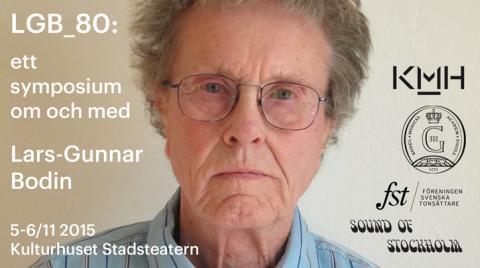 Lars-Gunnar Bodin 80 – svensk musikpionjär hyllas på Kulturhuset Stadsteatern 5-6 november