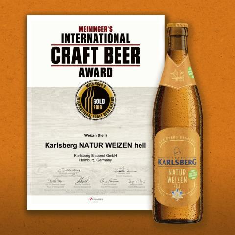 Karlsberg Natur Weizen gewinnt Gold