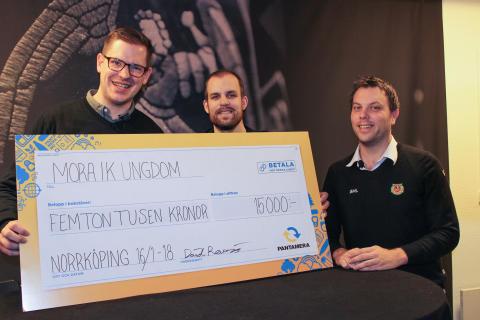 Mora IK Ungdom från Dalarna vann Pantameras miljötävling Föreningskampen 2017
