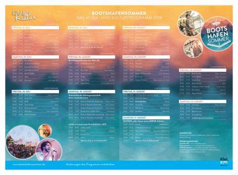 Das Programm des Kieler Bootshafensommers 2019