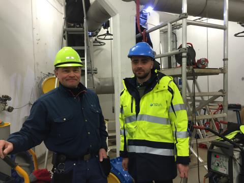 Installation av UV-ljus på Landskrona vattentorn