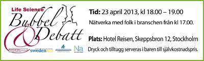 Bubbel & Debatt 23 april, Stockholm