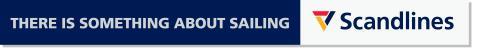 Scandlines logo med engelsk payoff horisontalt
