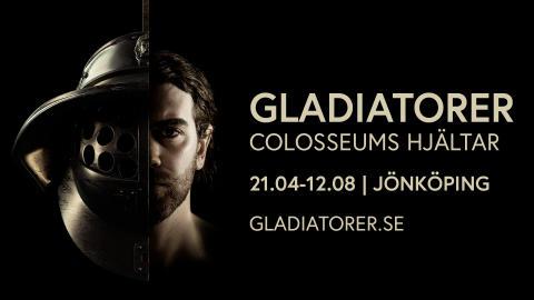 Världsutställning om gladiatorer visas i Jönköping