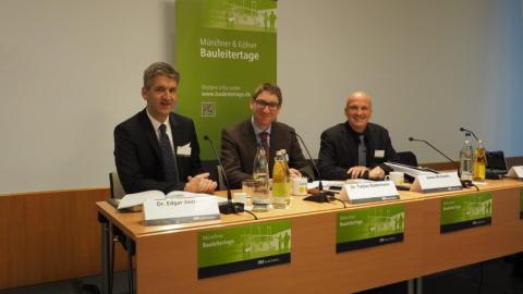 Von den Bauleitertagen nicht mehr wegzudenken: RA Dr. Edgar Joussen, Dr. Tobias Rodemann udn RA Goetz Michaelis.