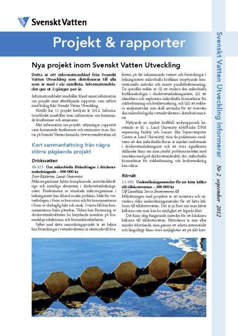 SVU:s Informationsblad Nr 2 september 2012