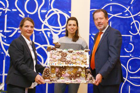 Süße Weihnachten: Knusperhaus für Kinderpalliativzentrum Datteln