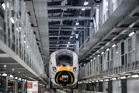 Train being built at Newton Aylciffe