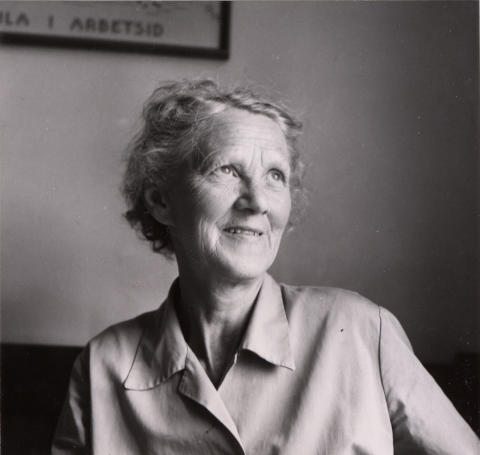 Hilda Sjöberg, boende i Landala på 60-talet