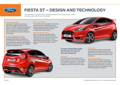 FIESTA ST - DESIGN & TECHNOLOGY