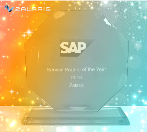 """Zalaris awarded as """"Service Partner of the year 2018"""" by SAP"""