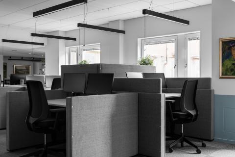 """En flexibel """"cubicle"""" för både arbetsro och samarbete"""