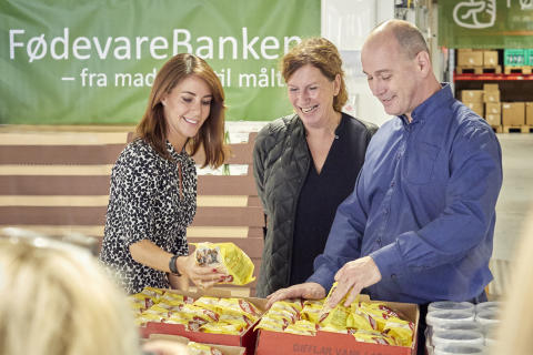 HKH Prinsesse Marie på besøg i FødevareBanken