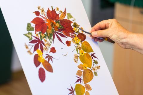 Gesichter der Natur  - die Gestaltung wundervoller Blütenbilder wird ebenfalls zum Tag des Handwerks gezeigt