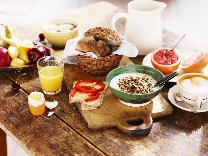 At aldrig frukost