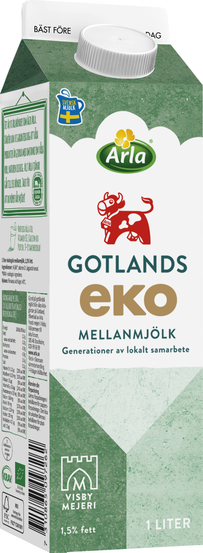 Arla börjar sälja ekologisk Gotlandsmjölk i Stockholm