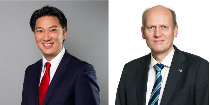 Statsekreterare Mattias Landgren (Tomas Eneroth) och Anders Werp (Ketil Solvik Olsen)