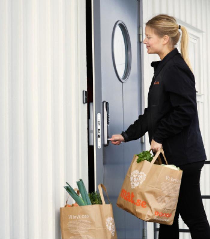 Digitalt dörrlås öppnar för framtidens smarta matleveranser