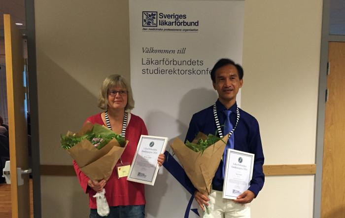 Läkarförbundets stora handledarpris tilldelas 2016 Britta Lödén och Kaj Eman