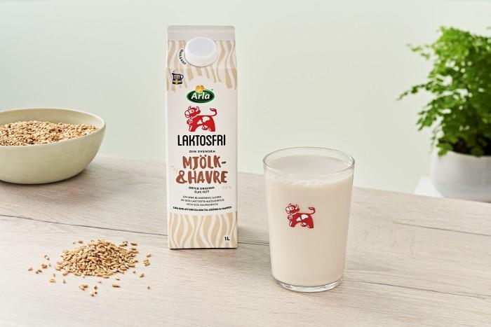 Arla lanserar Laktosfri Mjölk- & Havredryck