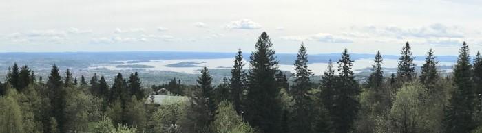 Vy över Oslo från Voxenåsen där konferensen om tåg mellan Sverige och Norge hålls den 23 maj.