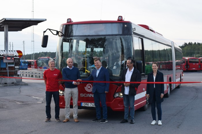 Idag rullade de första nya bussarna ut från depåerna i Märsta och Vallentuna