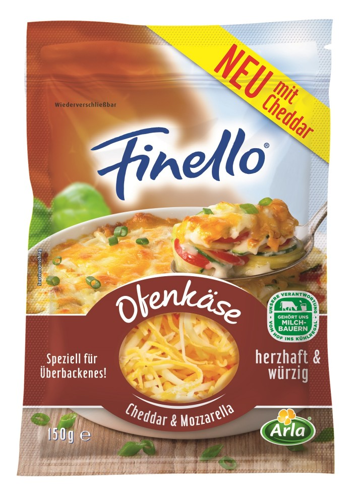 Die Mischung macht's: Arla führt neuen Finello® Ofenkäse mit Cheddar & Mozzarella ein